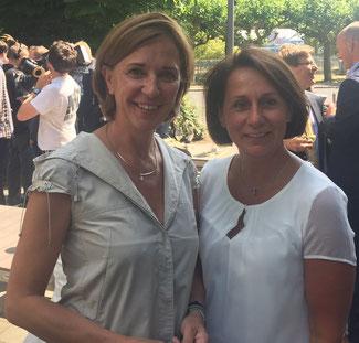 Von links nach rechts: Yvonne Gebauer und Nicole Westig