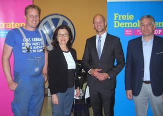 von links nach rechts: Dierk Lorscheid, Renate Frohnhöfer, Ralph Bombis, Alois Blum