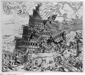 La destruction de la Tour de Babel - Cornelis Anthonisz (1547)