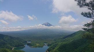 富士山と精進湖(精進峠より)