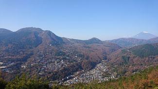 大文字焼から富士山と大涌谷方面