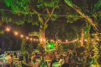 Hochzeitsfeier in der freien Natur