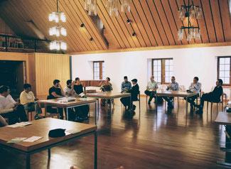 Angeregte Diskussion an der Vorveranstaltung vom 16.8.2021 in St.Gallen