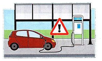 court circuit possible lors d'une charge de batterie de voiture électrique