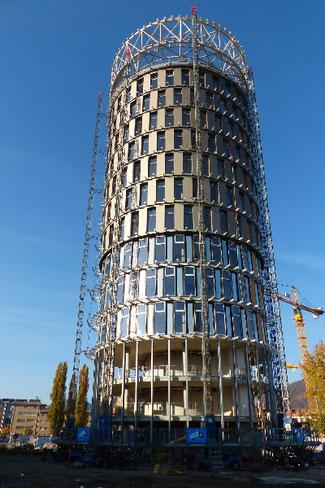 Science Tower Aussenwand-Dämmung mit Einblaswolle