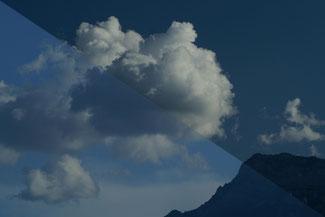 photographie : effet d'un filtre polarisant sur un ciel nuageux