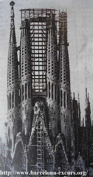 Саграда Фамилия. Фасад Рождества в 1925-м