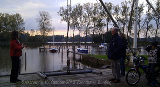 Saisonende 15.Oktober 2013 Yachthafen