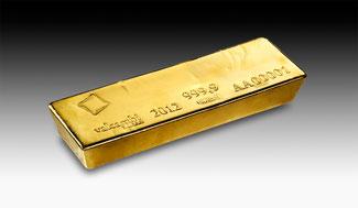 Good Delivery Gold Barren von Valcambi 400 oz., ca. 12,5 kg