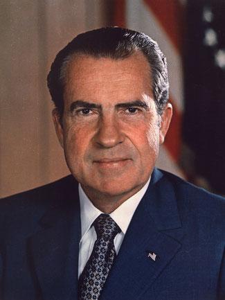 Präsident der USA vor 50 Jahren: Richard Nixon, Bild: wikipedia.org