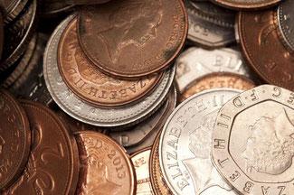 Münzen aus verschiedenen Metallen