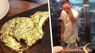 Ein vergoldetes essbares Steak (Photo: fokus.de)