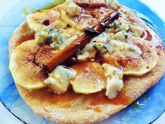 イチジクとブルーチーズのピザ ©Apointy