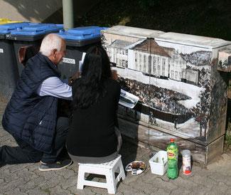 Martin Zielke mit Tzveta Grebe bei der Arbeit