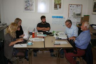 Treffen zur Planung unser Dorf hat Zukunft 2017 von links Kristina Fritsch, Vera Joosten, Klaus Kuhn ,Dieter Solms und Martin Zielke