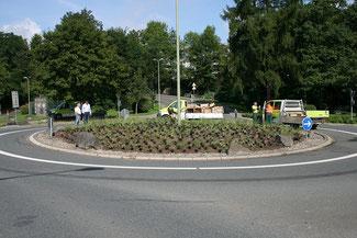 Neues Leben beim Kreisel am Heidenberg neue Bepflanzungsmaßnahmen