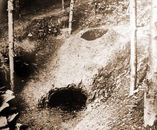 Alter Brennofen Ausgrabung