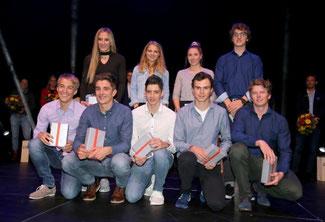 Bild DSV: Hegele oben rechts mit den Preisträgern Biathlon, Nord. Kombination, LANGLAUF; Skisprung; Ski-Cross