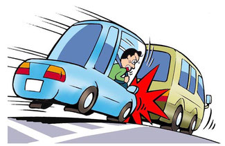 ゼブラゾーンなどへの駐停車は追突事故を誘発