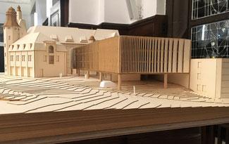 Florianseck - die alte Feuerwache und ein Parkhausmodell