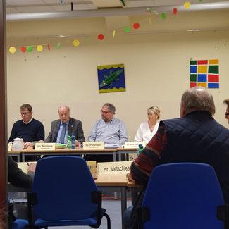 Sondersitzung des Ausschusses für Schule und Bildung in der Mensa der Grundschule Im Reitwinkel