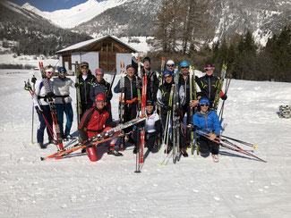 Das Team der Engadiner Skimarathonwoche 2019