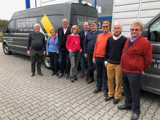 Foto (v.l.): Hermann Meyer, Ingrid Meyer, Hans-Gerd Voelker, Marita Garthoff, Martin Bülow, Frank Sterer, Werner Garthoff, Robert Horstrup, Hans-Jürgen Zurbrüggen
