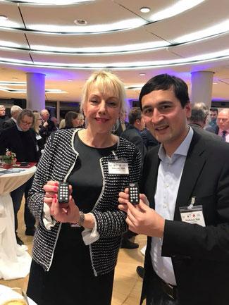 Susanne Schneider und Fraktionskollege Rainer Matheisen