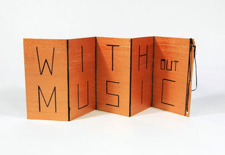 WITHout MUSIC LIFE would be a mistake, Leporello, 2018 (Detail)
