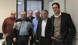 Kreisbauernschaft Euskirchen (v.r.n.l. Markus Herbrand MdB, Hans Schorn Vors. Kreisbauernschaft, Helmut Dahmen, Tobias Esch, Stefan Hermeling, H.-J. Schaefer FDP Euskirchen)