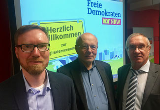 (v.l.n.r) Christian Grau, Hans Reiff, Peter Rauw