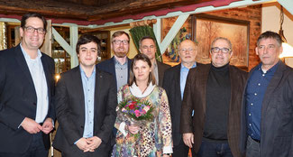 (v.l.n.r.) Markus Herbrand MdB, Frederik Schorn, Christian Grau, Petra Kanzler, Dr. Markus Milz, Hans Reiff, Hans-Joachim Schaefer, Mathias Schoenen