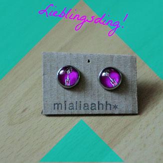 Trendige Ohrstecker von mialiaahh