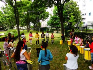 Ateliers batucada pour enfants - Association Zé Samba