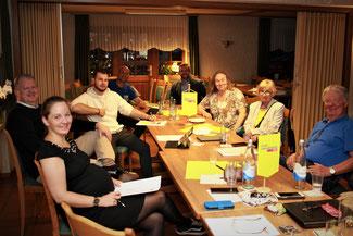 Mitglieder des Erweiterten FDP-Kreisvorstands bei Ihrer Sitzung am 15.Juli 2020 in Windhagen