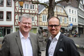 Dr.Tobias Kador (Links) und Philipp Amberg (rechts).