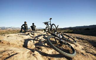 Die Fumic-Brüder in Moab vor ein paar Jahren – allerdings auf ihren Race-Hardtails  © Canyon Bicycles