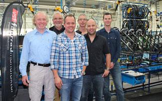 v.l.: Heino Geveke, Dietrich Sudikatis, Rainer Gerdes, Christoph Behnke, Timo Zelt, René Gähner ©VSF Fahrradmanufaktur