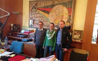 Ernesto Colnago mit Eva Lechner und Fabian Giger ©Colnago Team