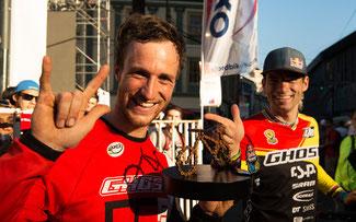 Erfolgreiche Geisterfahrer: Fischi (l.) und Tomas Slavik fuhren aufs Podest ©Ghost-Bikes