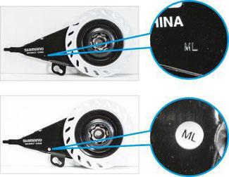 Betroffen sind nur Bremsen mit den Produktions-Codes ML und NA ©Shimano