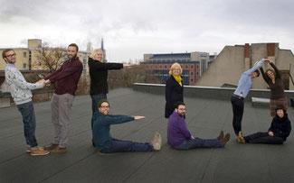 Stehen ganz im Zeichen des Velo: die neun Velokonzeptler © Pola Beck