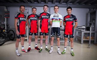 BMC-Team 2015: Ralph Näf, Martin Fanger, Lukas Flückiger, Julien Absalon, Reto Indergand (v.l.n.r.) ©Oliver Burgess