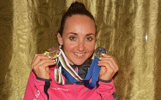 Eva Lechner mit EM-Silber und WM-Bronze 2015 © Miriam L. Weiß
