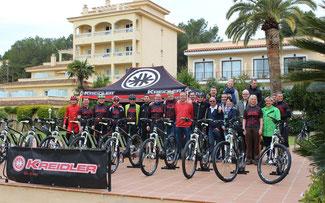 Die Händler testeten die neuen Kreidler E-Bikes © Cycle Union