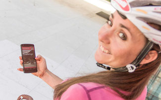 Eva Lechner präsentierte die Giro-App © Dr. Josef Bernhart/EURAC