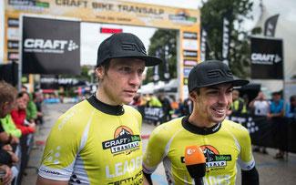 Transalp-Sieger 2014: Kaufmann (l.) und Käß © Andreas Dobslaff