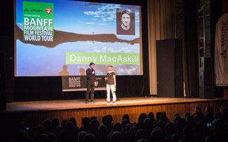 Danny Mac Askill war live bei der Premiere 2015 in München dabei ©Moving Adventures Medien GmbH