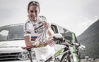 An Medaillen mangelt es Dahle-Flesjaa nicht, aber sie hat noch keine Cape-Epic-Erfahrung ©Multivan-Merida Biking Team
