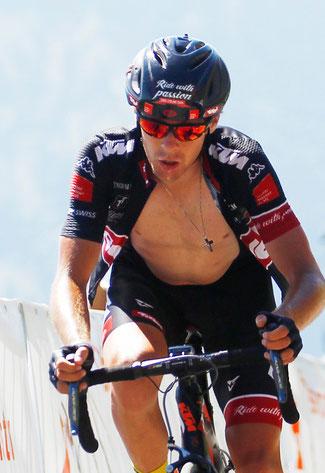 Helden in Tirol: David Wöhrer vom Cycling Team Tirol auf der Königsetappe über den Großglockner mit Ziel am Kitzbüheler Horn © Sabine Jacob/EURAC